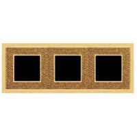 Рамка 3 поста золото Swarovski art