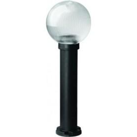 Светильник  уличный  60Вт Е27 h=90 см, шар дымчатый призматический IP43