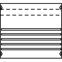 Панель под установку модульных устройств 1ряд/3рейки с шинным механизмом на 250А