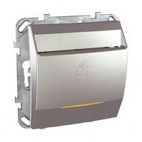 Выключатель карточный алюминий Unica Top