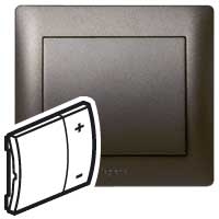 Накладка  для светорегулятора нажимного темная бронза Galea Life