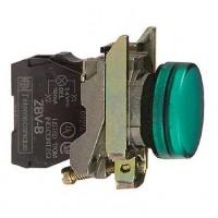 Сигнальная лампа зелёная 22 мм с цоколем ВА 9s подсветкой 230- 240В АС