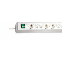 Удлинитель 3 розетки, 1,5 м с выключателем, H05VV-F 3G1,0, черный