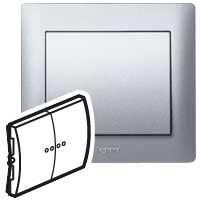 Клавиша для выключателя/переключателя 2 клавишного с индикацией алюминий Galea Life