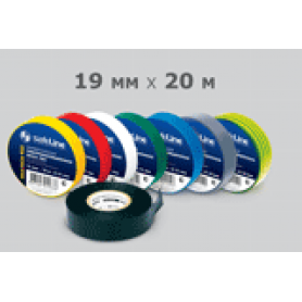 Изолента 19 мм х 20 м SafeLine ПВХ желтая