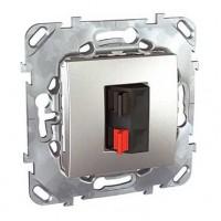 Розетка для аккустичеческих систем алюминий Unica Top