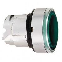 Головка для кнопки с подсветкой зелёная 22 мм с возвратом