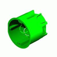 Коробка монтажная установочная 68х60 мм для полых стен мет. лапки, IP 30
