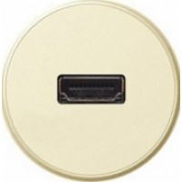 Накладка для розетки аудио/видео HDMI слоновая кость Celiane