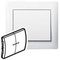Клавиша для выключателя/переключателя 2 клавишного с индикацией белый Galea Life