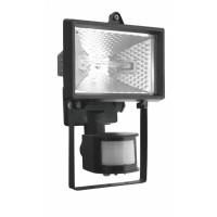 Прожектор 150Вт R7s 78мм IP54 черный с датчиком движения