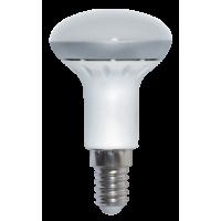 Лампа светодиодная 5 Вт 230В Е14 рефлектор, металл+пластик, белый