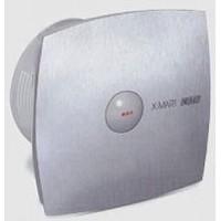 Вентилятор осевой 190 куб.м/час 25 Вт 230 В для настен.монтажа (диам.шахты 118мм) автомат.жалюзи цвет нерж.сталь серия  X-Mart