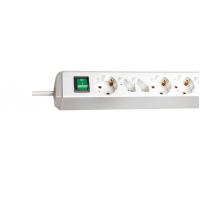 Удлинитель 3 розетки, 1,5 м с выключателем, H05VV-F 3G1,0, белый