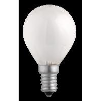 Лампа накал. шар 40 Вт E14, матовый