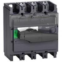Выключатель-разъединитель 3-пол. 400А с черной ручкой INTERPACT INV400