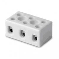 Клеммник керамический с отв. для фиксации, 3 пол., 1-4 кв.мм