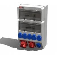 Alpenbox, розетка 32А/400В/5П/IP44-1шт, 16А/400В/5П/IP44-1шт, 16А/250В/3П/IP54-6шт