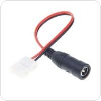 Коннектор для светодиодной ленты SMD3528 8мм 2-pin + провод 20см + разъём джек 5,5мм