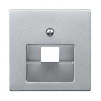 Накладка  для розетки  телефонной/компьютерной алюминий System M