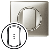 Клавиша для выключателя/переключателя 1 клавишного с индикацией титан Celiane