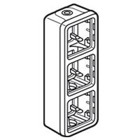 Коробка 3 поста вертикальная, IP 55 Plexo