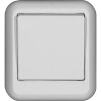 Выключатель 1 клавишный, белый, откр. установки ПРИМА (уп. 130 шт)