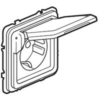 Розетка 2Р+Е с крышкой  IP55 алюминий Soliroc