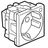Розетка 2Р+E 2 модуля с индикацией белый Mosaic