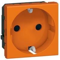 Розетка 2Р+E 2 модуля оранжевый Mosaic