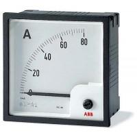 Амперметр аналоговый панельный транс.включения для измерения переменного тока без шкалы 96х96 мм серия AMT1-A5/96