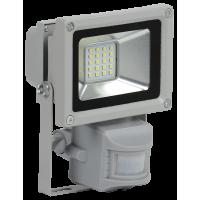 Прожектор СДО 05-10Д(детектор)светодиодный серый SMD IP44 IEK