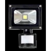 Прожектор светодиодный с датчиком движения 10Вт 85-265V 855Лм  6500К IP65 5-8 м. 120*