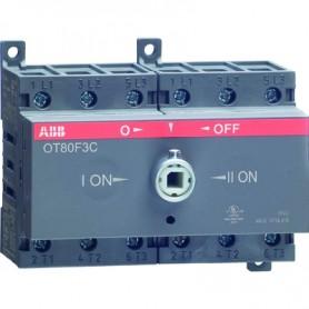 Реверсивный рубильник 63А 3-пол. OT63F3C для установки на DIN-рейку или монтажную плату (без ручки) (1SCA135435R1001)