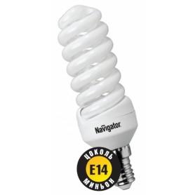 Лампа энергосберегающая 9 Вт Е14 4200К тонкая спираль холодный 94 042
