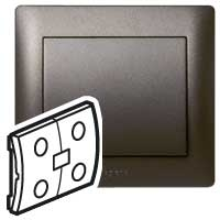 Клавиша для выключателя 2 клавишного темная бронза In One