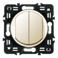 Клавиша для выключателя/переключателя 2 клавишного слоновая кость Celiane