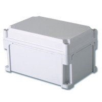 Корпус 400х400х160 сплошные стенки, непрозрачная крышка 35 мм, IP67