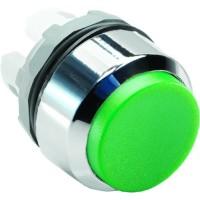Кнопка зеленая выступающая подсветки без фиксации ( только корпус ) тип MP3-20G