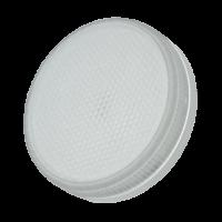 Лампа светодиодная 4,4 Вт GX53 3000К таблетка матовое стекло, тёплый белый