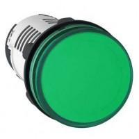 Лампа сигнальная зелёная 230В AC светодиод
