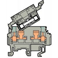 Клемма M4/8.SFT винт 4мм.кв., тест., держатель предохранителя 5х20, 5х25 мм, гнезда диаметром 2 мм.