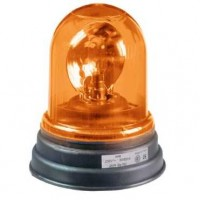 Проблесковый маячок жёлтый 165мм с вращающимся зеркалом под лампу накаливания 24В AC/DC