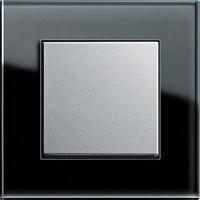 Рамка 1 пост черный алюминий ESPRIT
