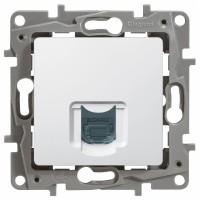 Розетка компьютерная RJ45 белый Etika