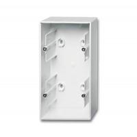 Коробка открытого монтажа 2 поста альпийский белый Basic 55