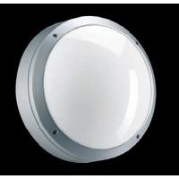 Светильник  настенный для КЛЛ 2х26 Вт G24d-3 IP65 круглый, серебро