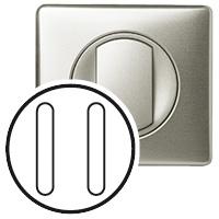 Накладка для выключателя/переключателя бесшумного 2 модуля титан Celiane