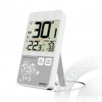 Термометр цифровой с проводным датчиком в стиле iPhone настол.уст.белый