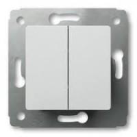 Выключатель 2 клавишный белый Cariva